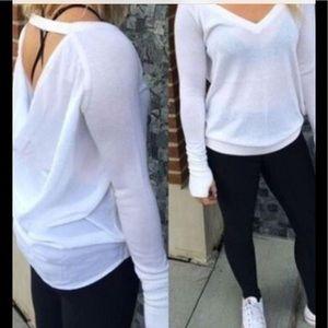 Lululemon Unity Drape Back White Sweater